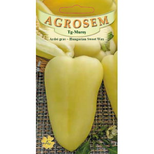 Seminte de ardei gras Hungarian Sweet Wax, 0,5 grame