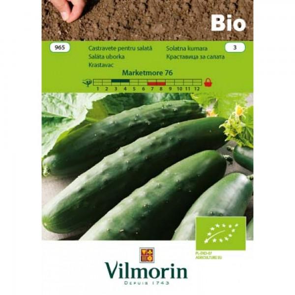 Seminte bio de castravete marketmore 76, 1 gram, vilmorin