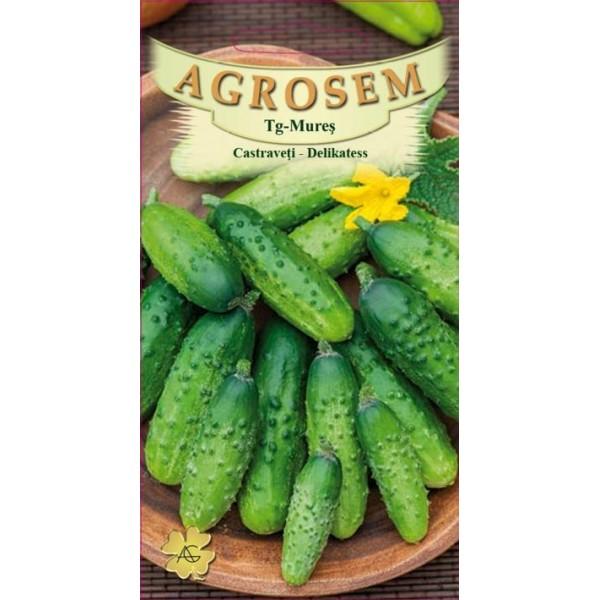 Seminte de castraveti cornichon Delikatess, 1,5 grame, Agrosem