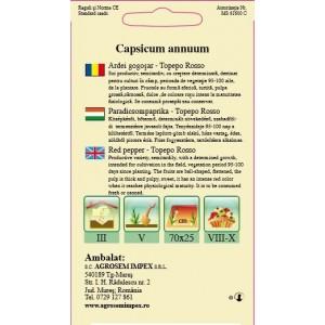 Seminte de ardei gogosar Topepo Rosso, 1 gram, Agrosem