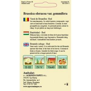 Seminte Varza de Bruxelles Red, 0,30 grame