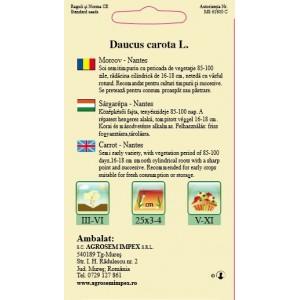 Seminte de morcov Nantes, 5 grame