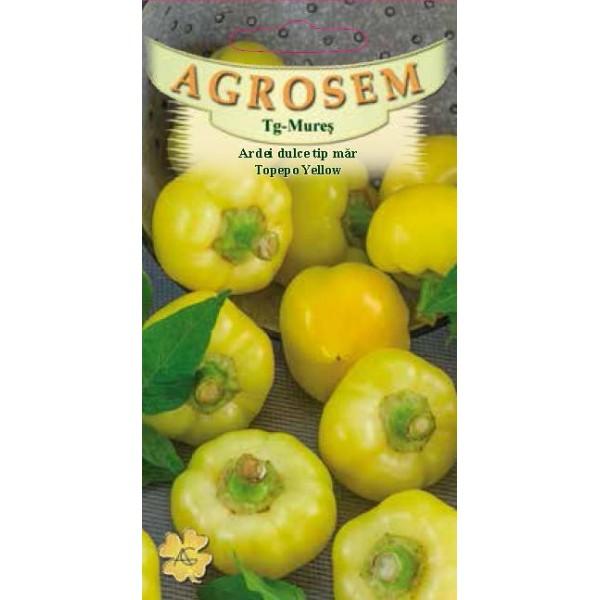Seminte de ardei dulce, tip mar, Topepo Yellow, 0,5 grame