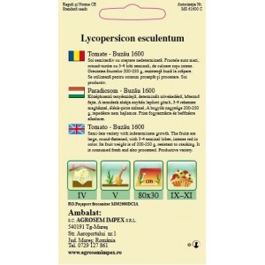 Seminte de rosii semitimpurii nedeterminate Buzau 1600 - 0,5 grame