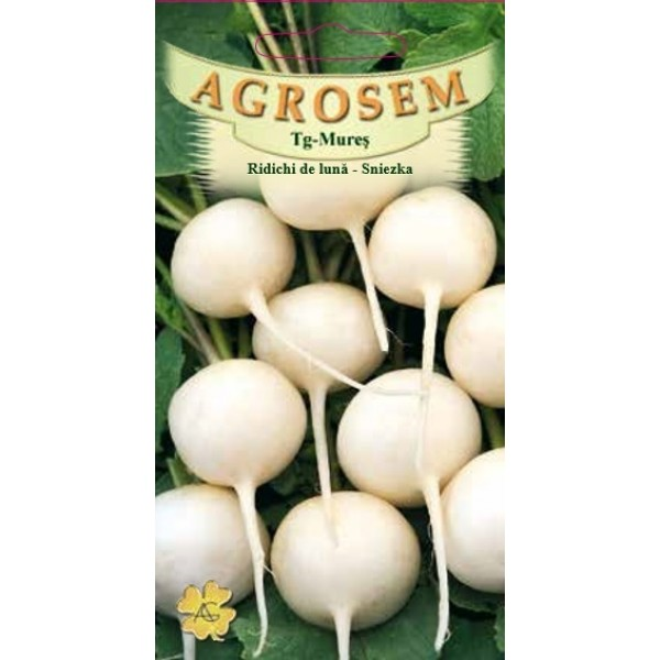 Seminte de ridichi de luna albe znieska, 4 grame