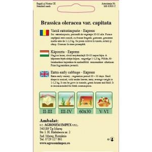 Seminte de varza extratimpurie express, 3 grame