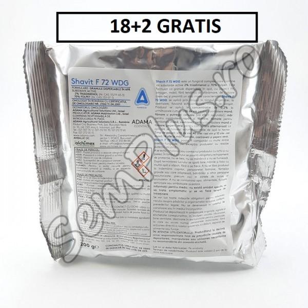 Pachet promotional Fungicid Shavit 72 WDG, 18 Kg + 2 Kg GRATIS