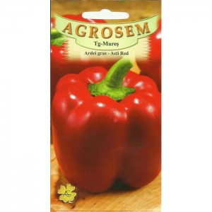Seminte de ardei gras Asti Red, 1 gram, Agrosem