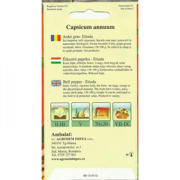 Seminte de ardei gras Etiuda - 0.4 gr
