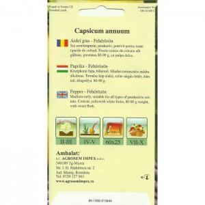 Seminte de ardei gras Feherozon, 0,5 grame, Agrosem