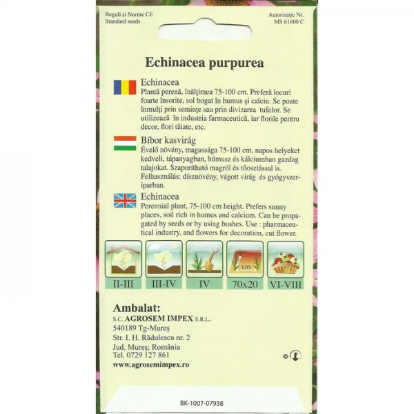 Seminte de echinacea, 1 gram
