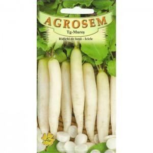 Seminte de ridichi de luna Icicle, 5 grame, Agrosem