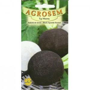Seminte de ridichi negre de iarna Black Spanish Round, 1 Kg