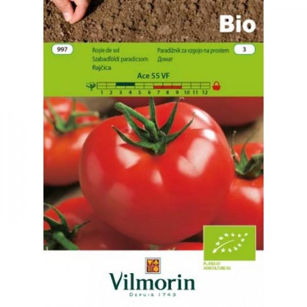Seminte bio de tomate Ace 55 VF, 1,5 grame, vilmorin