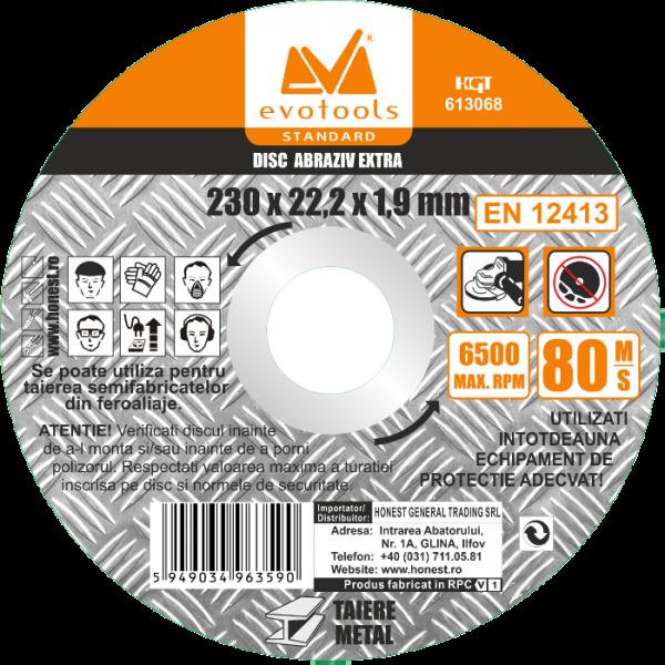 Disc abraziv ETS A46 Extra, diametru 125 mm, grosime 1,6 mm, Evotools
