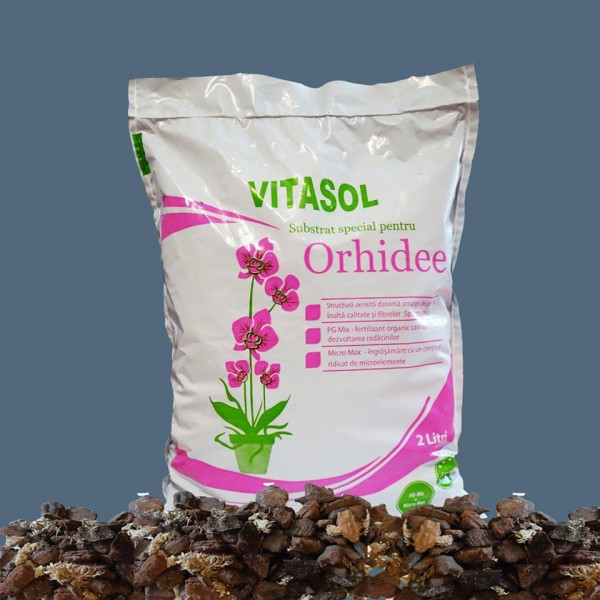 Substrat special pentru orhidee Vitasol - 2 litri