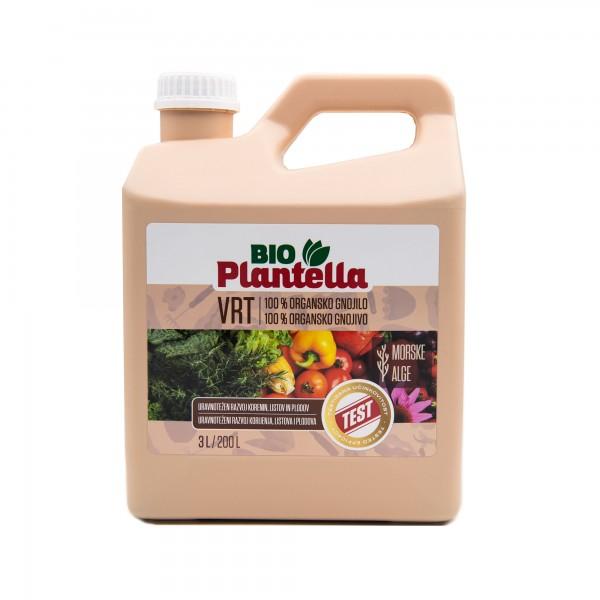 Ingrasamant organic natural Bio Nutrienti pentru gradina ecologica, 3 litri, Plantella