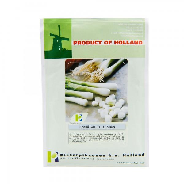 Seminte de ceapa pentru ceapa verde White Lisbon, 25 grame, Pieterpikzonen
