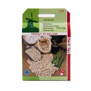 Seminte de fasole pentru boabe White Egg, 100 grame, Pieterpikzonen