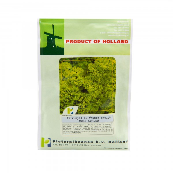 Seminte de patrunjel de frunze cret, 50 grame, Pieterpikzonen