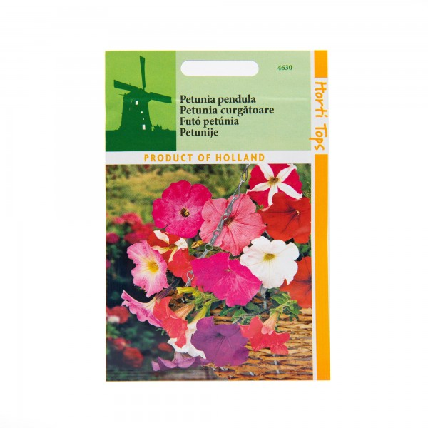 Seminte de petunia pendula curgatoare mix, 0,2 grame, Horti Tops