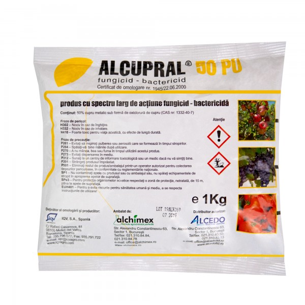 Fungicid Alcupral 50 PU, 1 kg, Alchimex