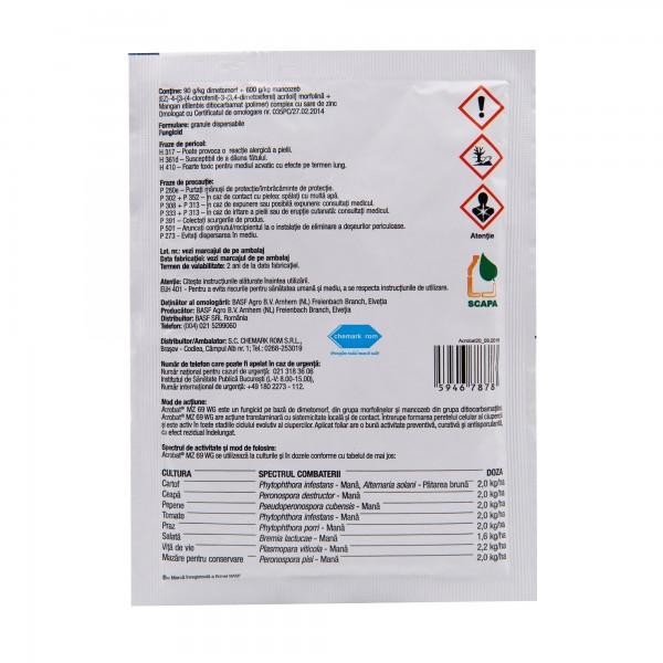 Fungicid Acrobat MZ 69 WG, 20 grame