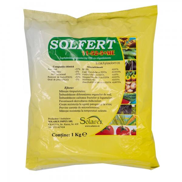 Ingrasamant foliar Solfert 11-52-5+microelemente, 1 Kg, Solarex