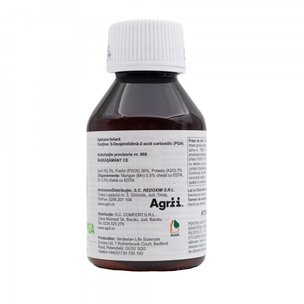 Ingrasamant foliar cu efect biostimulator Nutri-Phite PGA, 100 ml