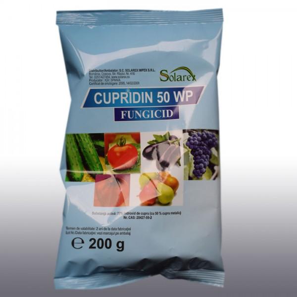 Fungicid de contact Cupridin 50 WP, 200 grame
