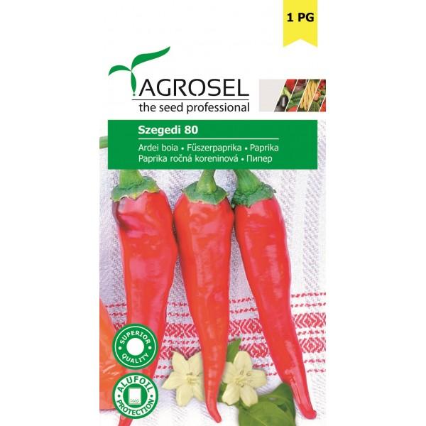 Seminte de ardei pentru boia dulce Szegedi 80, 0,4 grame, Agrosem