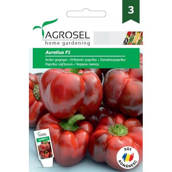 Seminte de ardei gogosar Aurelius F1, 15 seminte, PG-3, Agrosel