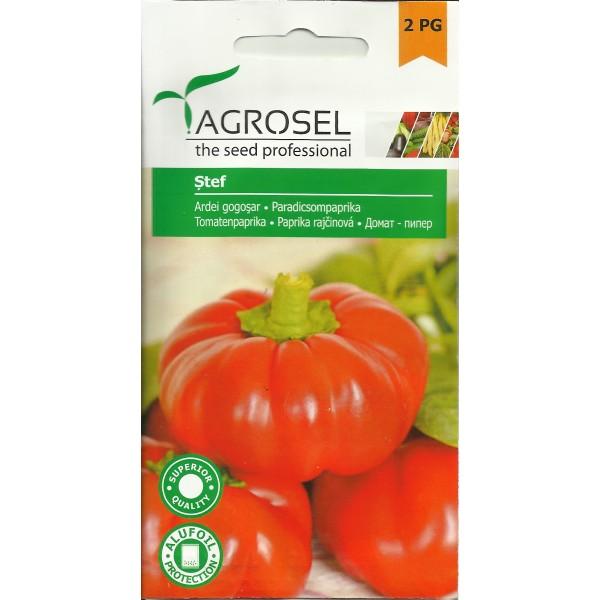 Seminte de ardei gogosar semitimpuriu Stef, 2000 seminte, Agrosel
