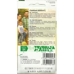 Seminte de ardei gras Barbara, 1,5 grame, PG-3, Agrosel