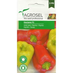 Seminte de ardei gras semitimpuriu Daciana F1 (AS2 - 177) , 20 seminte, PG-3, Agrosel