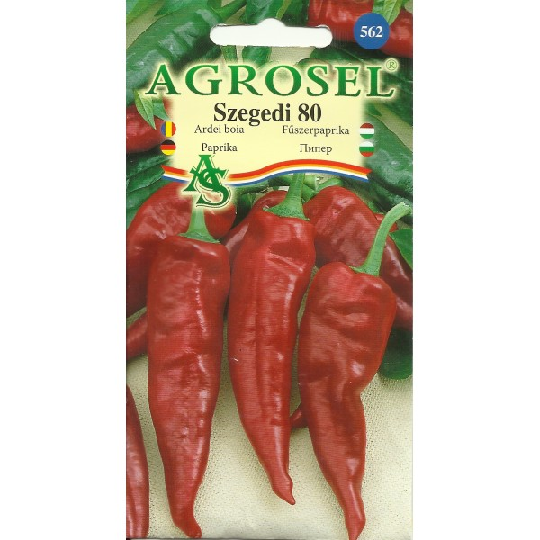 Seminte de ardei iute pentru boia Szegedi 80, 0,5 grame, Agrosel