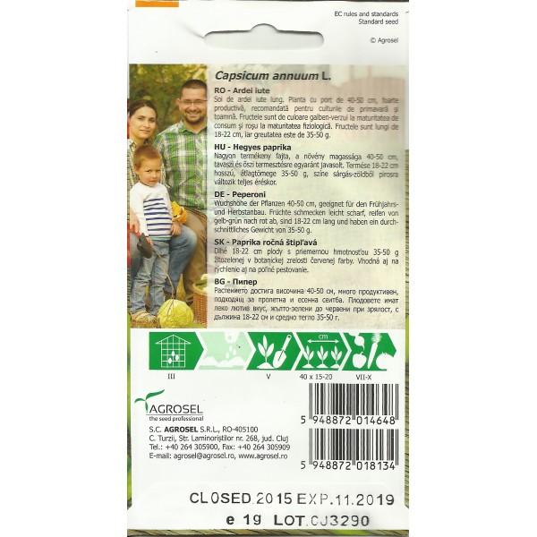 Seminte de ardei iute Dracula, 1 gram, PG-2, Agrosel