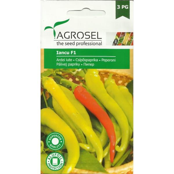 Seminte de ardei iute semitimpuriu Iancu F1 (AS2 - 269), 20 seminte, PG-3, Agrosel