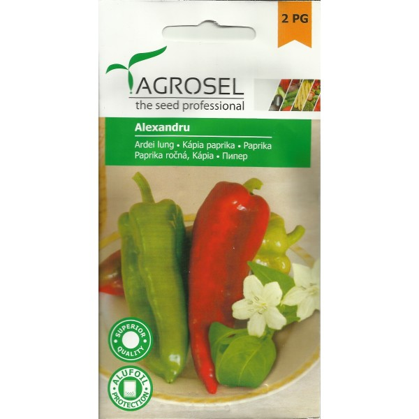 Seminte de ardei kapia Alexandru, 1 gram, PG-2, Agrosel