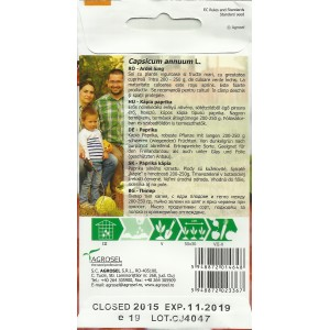 Seminte de ardei kapia semitimpuriu Dumbo 34, 1.5 grame, PG-3, Agrosel