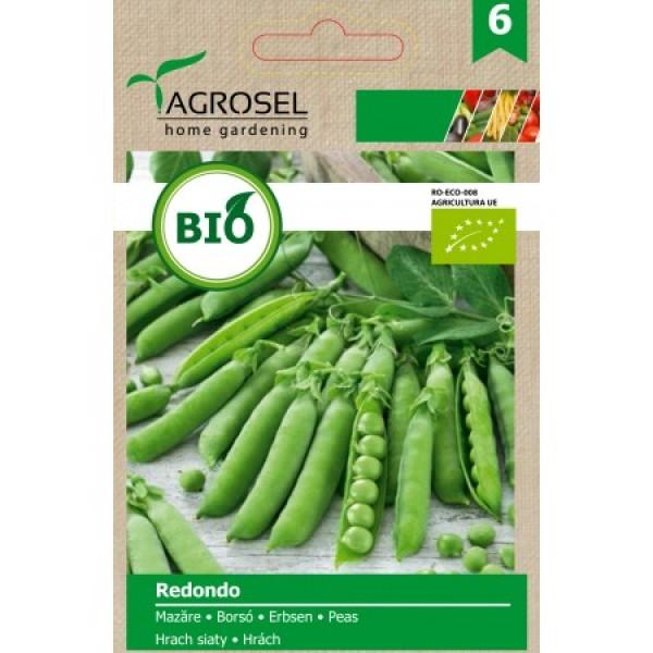 Seminte BIO de mazare Redondo, 20 grame, PG-6, Agrosel