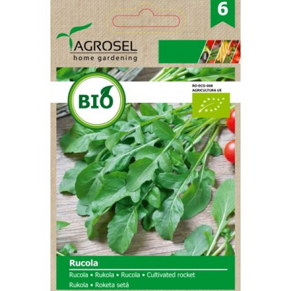 Seminte BIO de rucola, 5 grame, PG-6, Agrosel