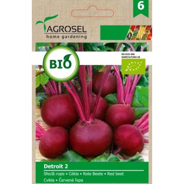 Seminte BIO de sfecla rosie Detroit 2, 3 grame, PG-6, Agrosel