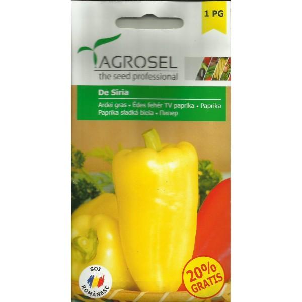 Seminte de ardei gras de Siria, 0,5 grame, Agrosel