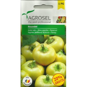 Seminte de ardei iute Roundel, 0,5 grame, Agrosel