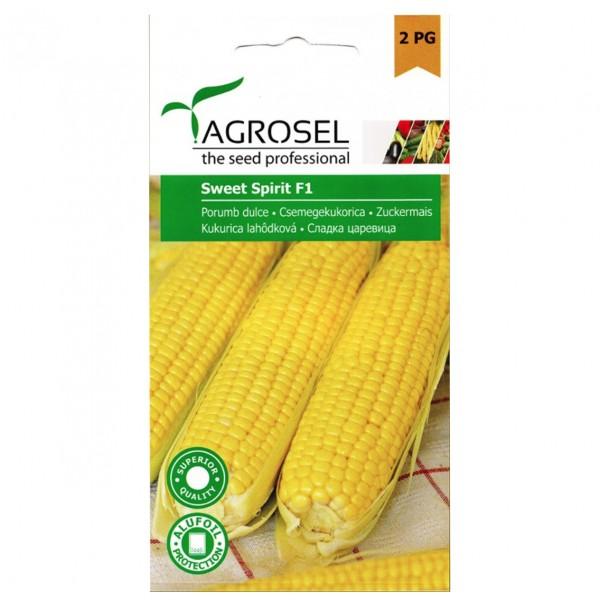 Seminte de porumb zaharat Sweet Spirit F, 25 seminte, PG-2, Agrosel