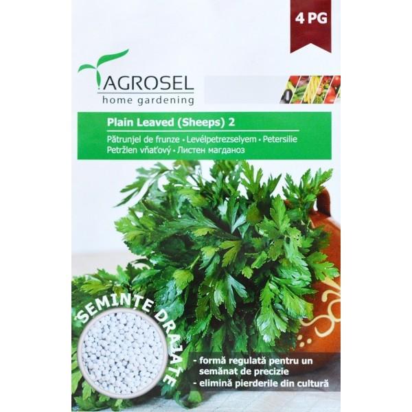 Seminte drajate de patrunjel pentru frunze Plain Leaved, 370 seminte, Agrosel