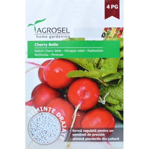 Seminte drajate de ridichi Cherry Belle, 230 seminte, Agrosel