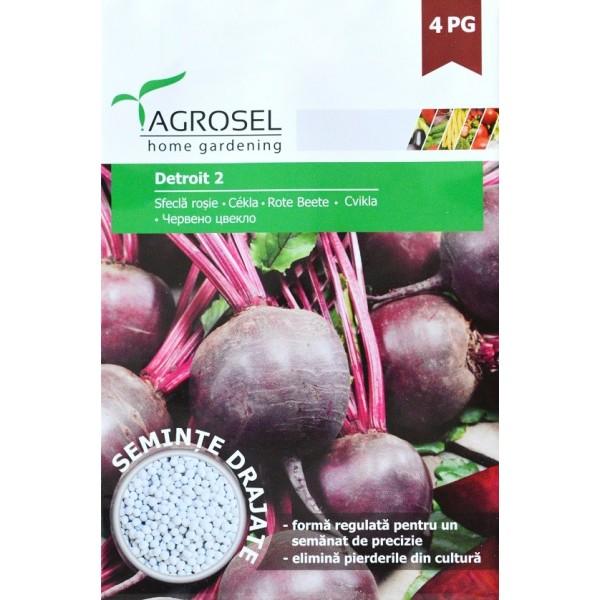 Seminte drajate de sfecla rosie Detroit 2, 120 seminte, Agrosel