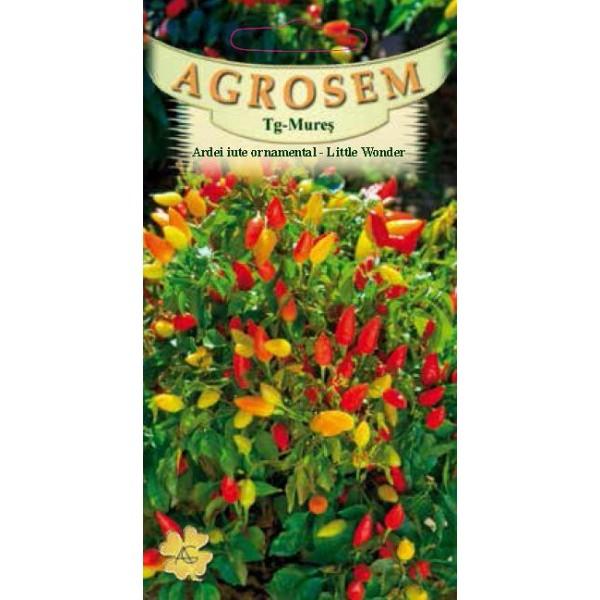 Seminte de ardei iute pentru ghiveci Little Wonder,  0,5 grame, Agrosem